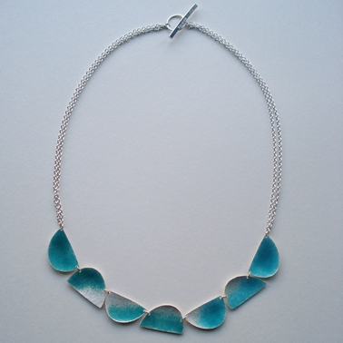 Seven half ovals and chain necklace