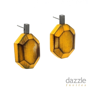 Faceted Earrings yellow