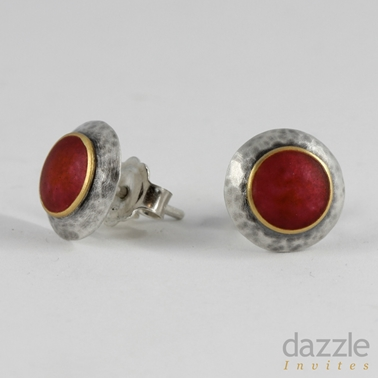Red Domed Studs