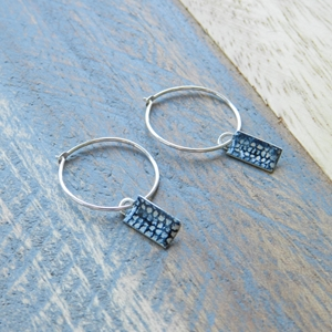 Blue Mini Rectangle Curved Hoops