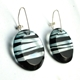 'Humbug' Striped Disk Earrings (side)