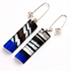 'Black & Blue 'Humbug' Rectangle Earring