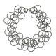 Bay bracelet oxidised silver