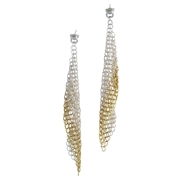 Dasher earrings gold