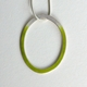 Green loop necklace