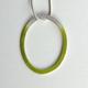 Green loop necklace