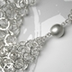 Silver short chain tube necklace clasp