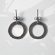 Forbes loop earrings, oxidised silver