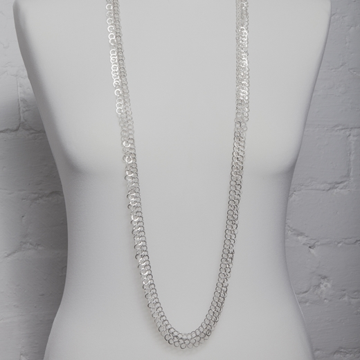 long ednie necklace on body