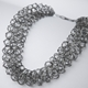 Ervine necklace oxidised silver
