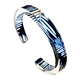 Navy Conifer Recycled Perspex Cuff Bracelet 10mm