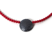 necklace red and black