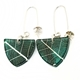 Quetzal Green Skeleton Leaf Small Triangle Earrings