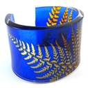Royal Blue & Amber Fern Cuff 45mm