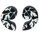 Black Baroque Swirl stud Earrings