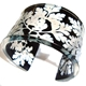 Black&Clear Cow Parsley Cuff