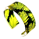 Yellow & Green Conifer Cuff 25mm