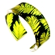 Yellow & Green Conifer Cuff Bracelet  25mm