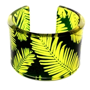 Yellow & Green Conifer Cuff 45mm