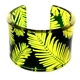 Yellow & Green Conifer Cuff Bracelet 45mm