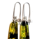 Yellow & Green Conifer Long Drop Earrings (detail)