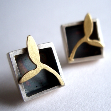 Square box earrings