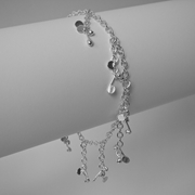 Blossom daisy chain dangling charm bracelet by Fiona DeMarco