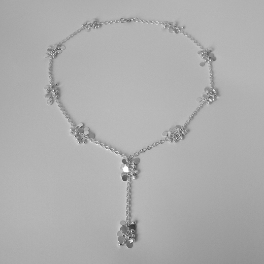 Blossom daisy chain lariat style necklace, polished