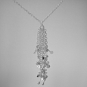 Blossom daisy chain pendant necklace by Fiona DeMarco