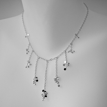 Blossom daisy chain semi graduated necklace by Fiona DeMarco