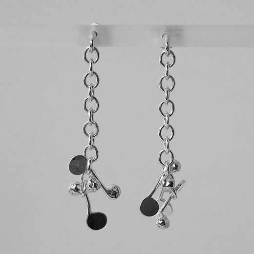 Blossom daisy chain stud drop earrings by Fiona DeMarco