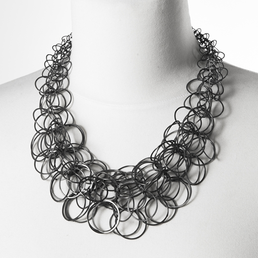 Aden necklace (black) on body