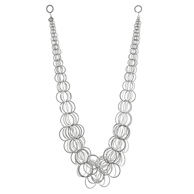 Aden necklace, silver