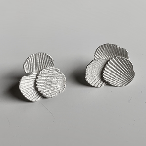 Imprint cluster earrings