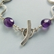 amethyst teardrop bead bracelet catch