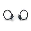 oxidised knotted string earrings