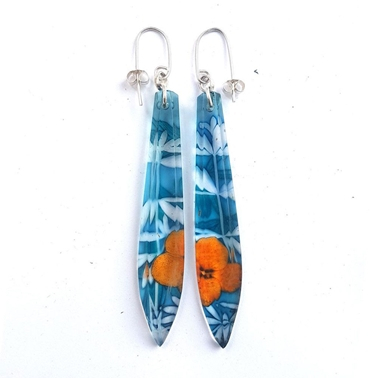 Aqua Mist Regency Long Drop Earrings