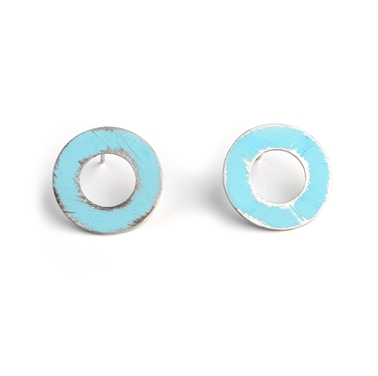 Small Aqua Washer Studs