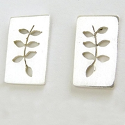 ash leaf earrings