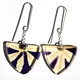 passion flower  triangle earrings
