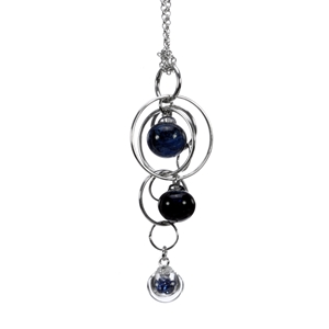 aventurine-blue-triple-bubble-lamp-worked-glass-sterling-silver-pendant-by-charlotte-verity