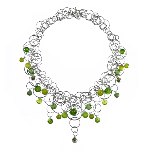 aventurine-green-28-bubble-lamp-worked-blown-glass-sterling-silver-neckpiece-by-Charlotte-Verity
