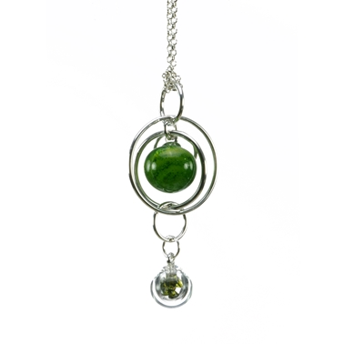 aventurine-green-flame-worked-blown-glass-double-bubble-sterling-silver-pendant-by-charlotte-verity