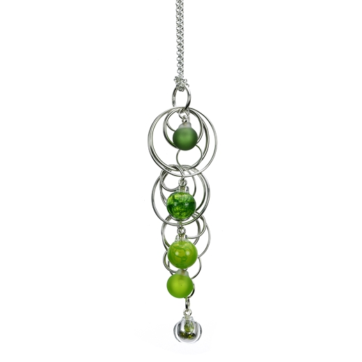 Aventurine-green-lamp-worked-blown-glass-quintuple-bubble-pendant-with-peridot-cz-by-Charlotte-Verit