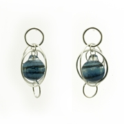 Aventurine Blue Single Bubble Earrings
