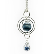 Aventurine Blue Double Bubble Pendant