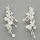 Blossom wire stud earrings, satin