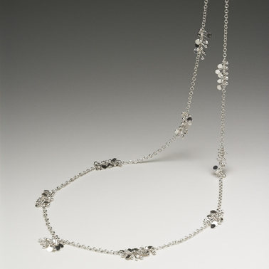 Blossom extra long daisy chain necklace, polished