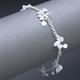 Blossom daisy chain bracelet, satin