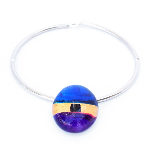 Purple pebble choker 2